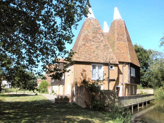 The Oast perfect self catering Accommodation near the english city of Canterbury.
